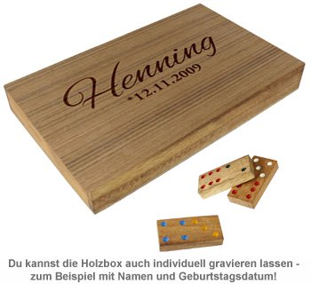 Domino in edler Holzbox - 4