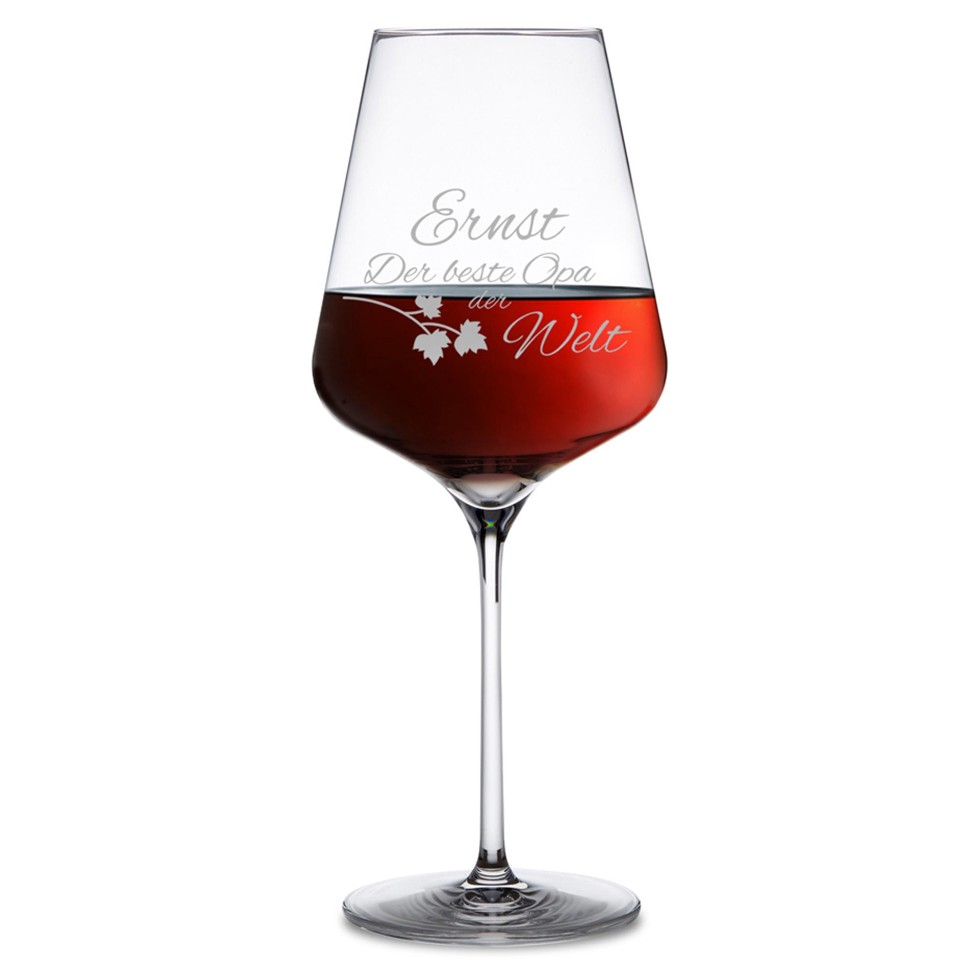 Weinglas mit Gravur - Bester Opa - 2