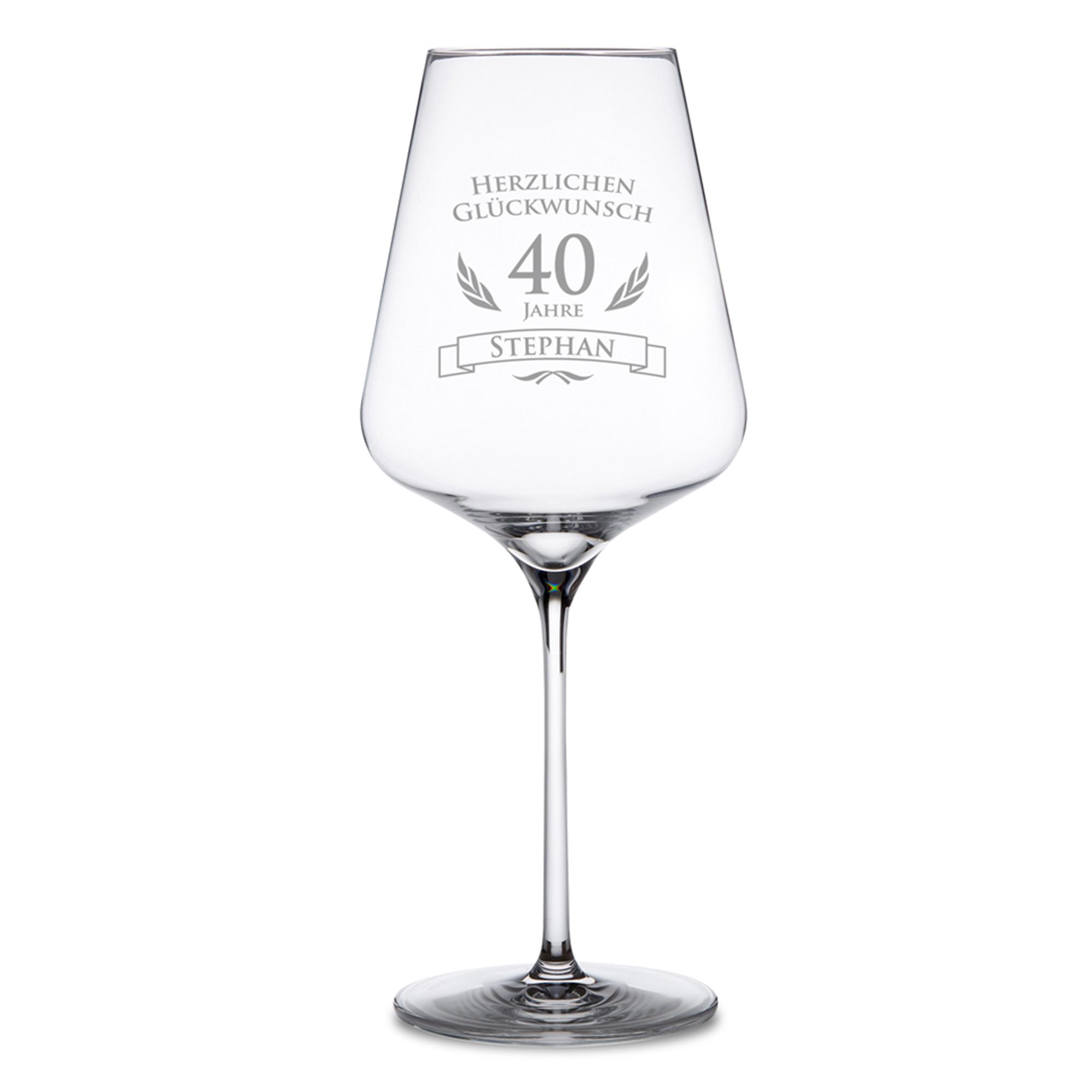 Weinglas zum 40. Geburtstag - 2