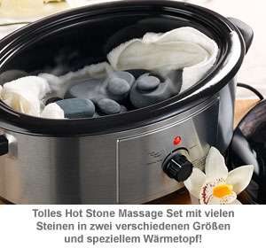 Hot Stone Set mit Wärmegerät - 2