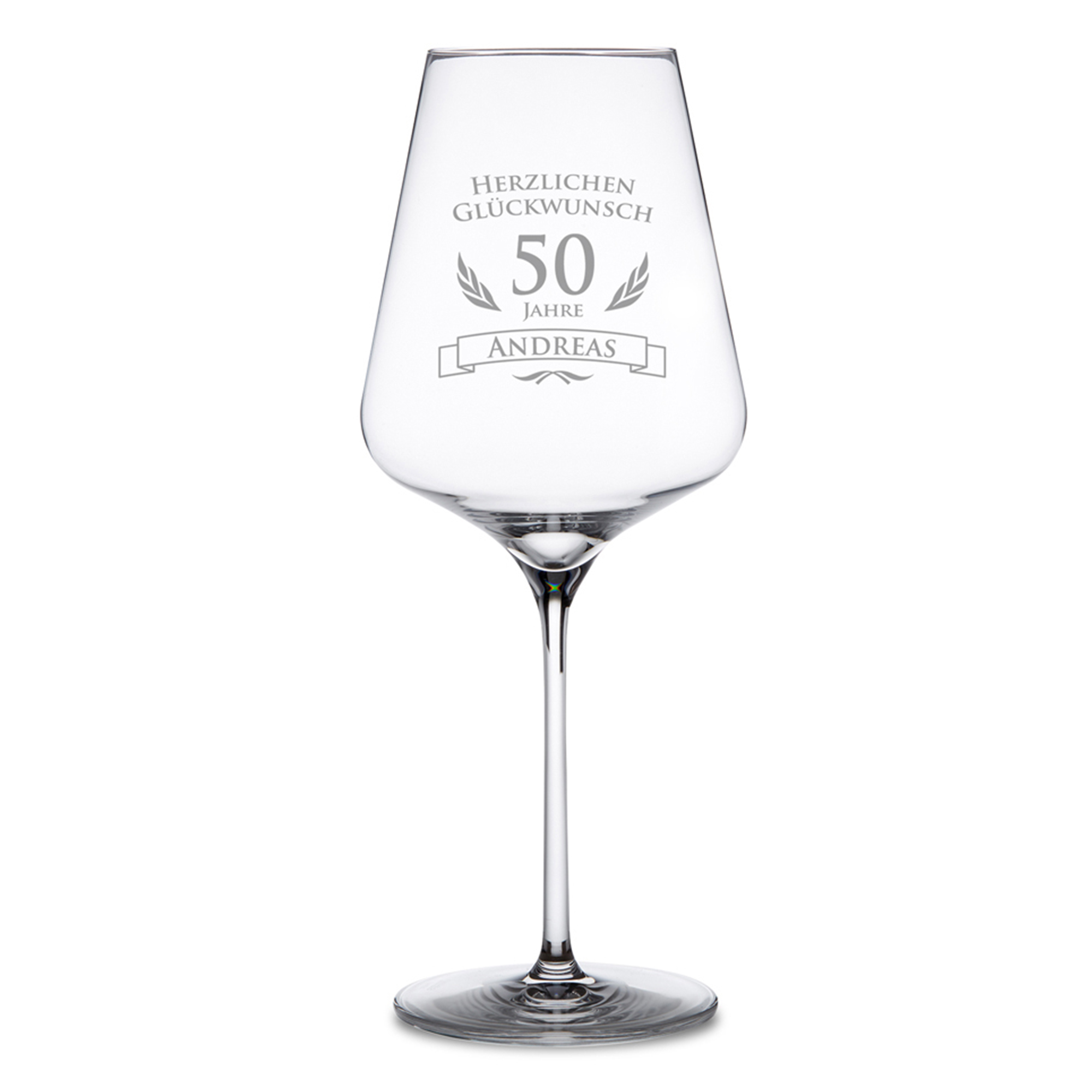 Weinglas zum 50. Geburtstag - 2
