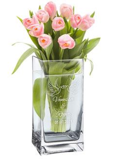 Vase Liebestauben - personalisiert - 3