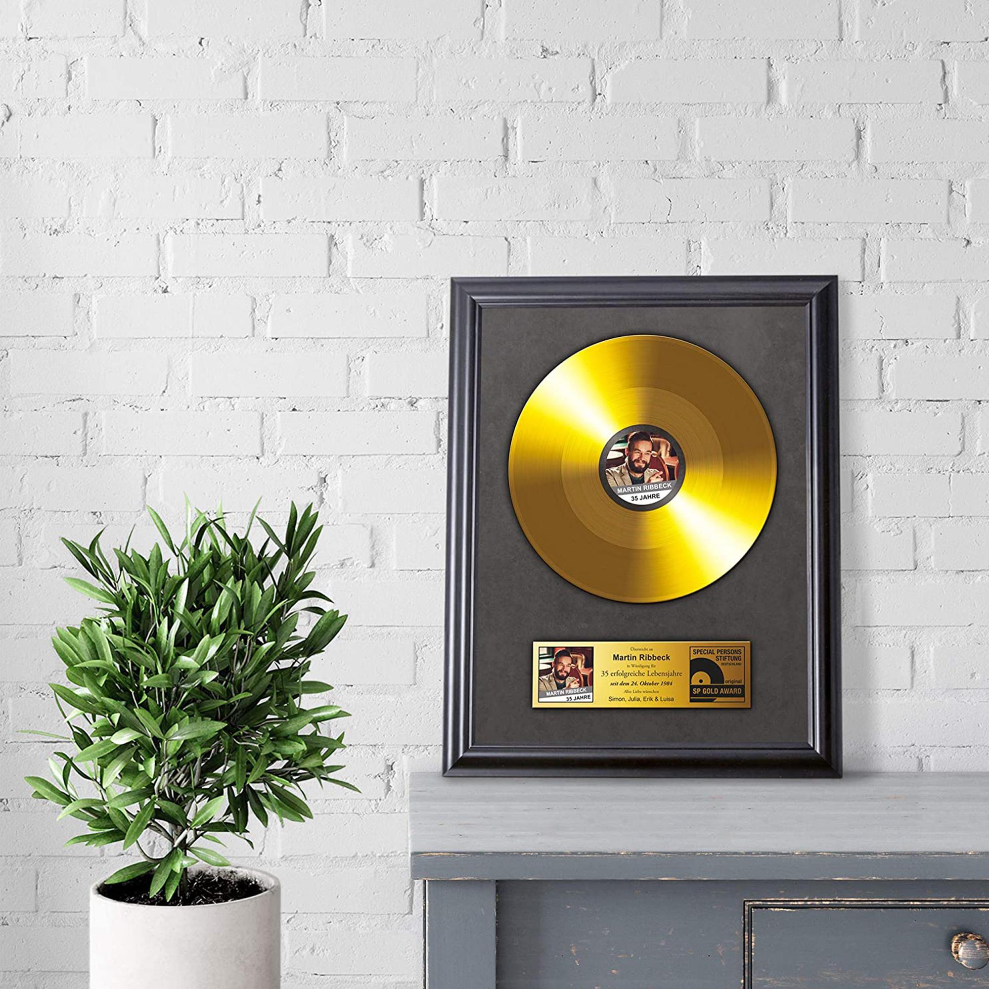 Goldene Schallplatte - personalisiertes Bild - 2