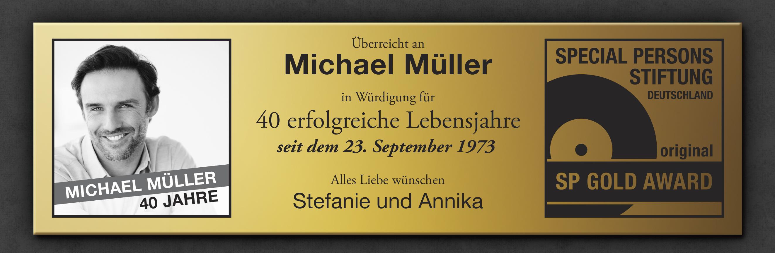 Goldene Schallplatte - personalisiertes Bild - 4