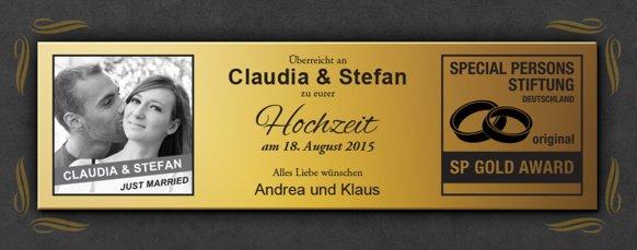 Goldene Schallplatte - Hochzeitsbild - 3