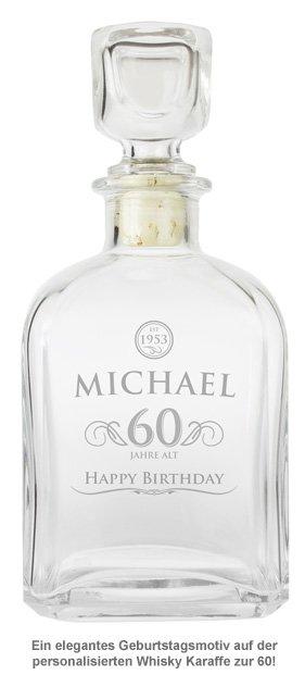 Whisky Karaffe 60. Geburtstag - elegant - 2