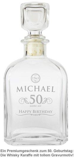 Whisky Karaffe 50. Geburtstag - elegant - 2