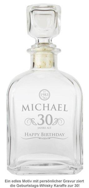 Whisky Karaffe 30. Geburtstag - elegant - 2