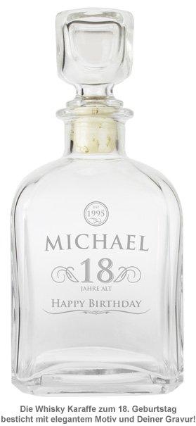 Whisky Karaffe 18. Geburtstag - elegant - 2