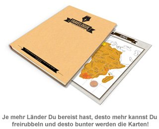 Reisetagebuch mit Rubbel Weltkarten - 2