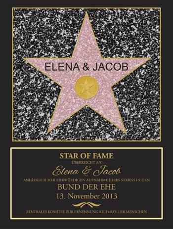Star of Fame - Hochzeitsbild - 2