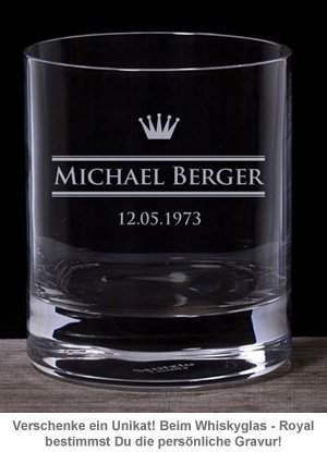 Personalisiertes Whiskyglas - Royal - 2