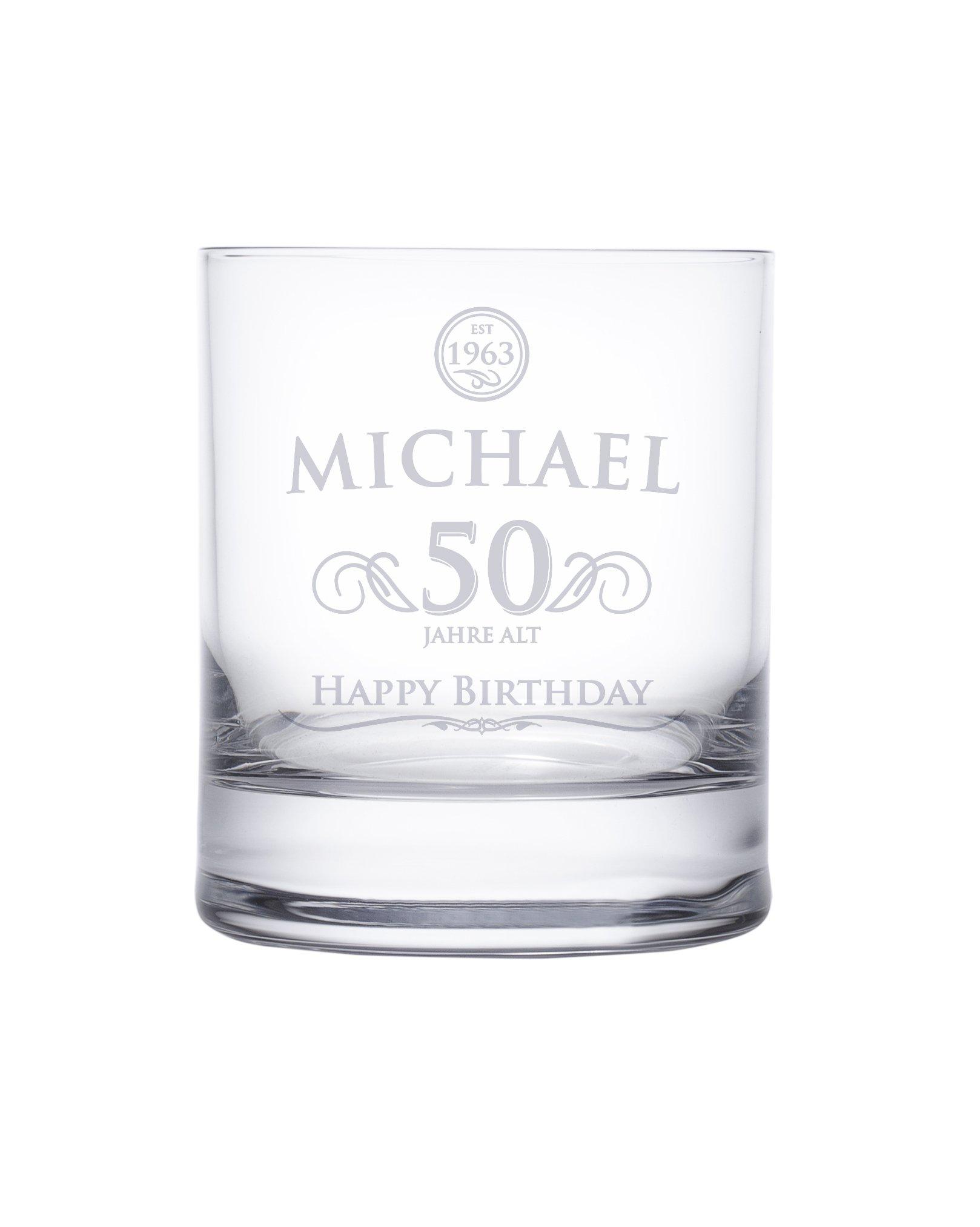 whiskyglas 50 geburtstag elegant mit personalisierter gravur. Black Bedroom Furniture Sets. Home Design Ideas