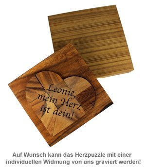 Holz Puzzle - Herz - 2