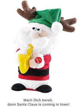 Singender Weihnachtsmann mit Saxophon - 2