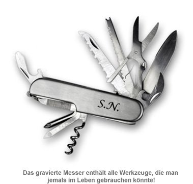 Outdoor Messer - graviert - 3