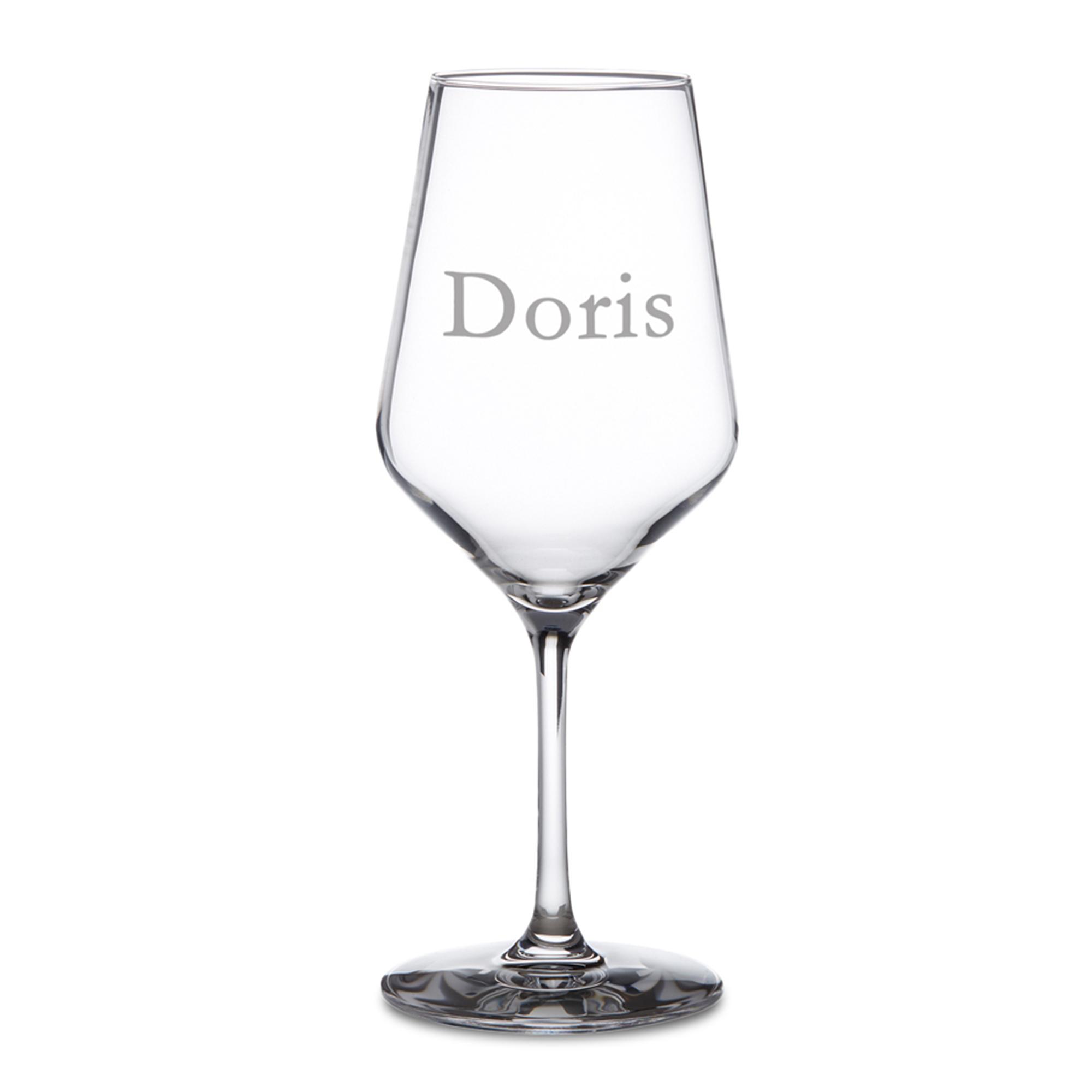 Weißweinglas mit Gravur - 2
