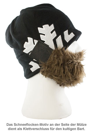 Bartmütze Snowflake - braun - 2