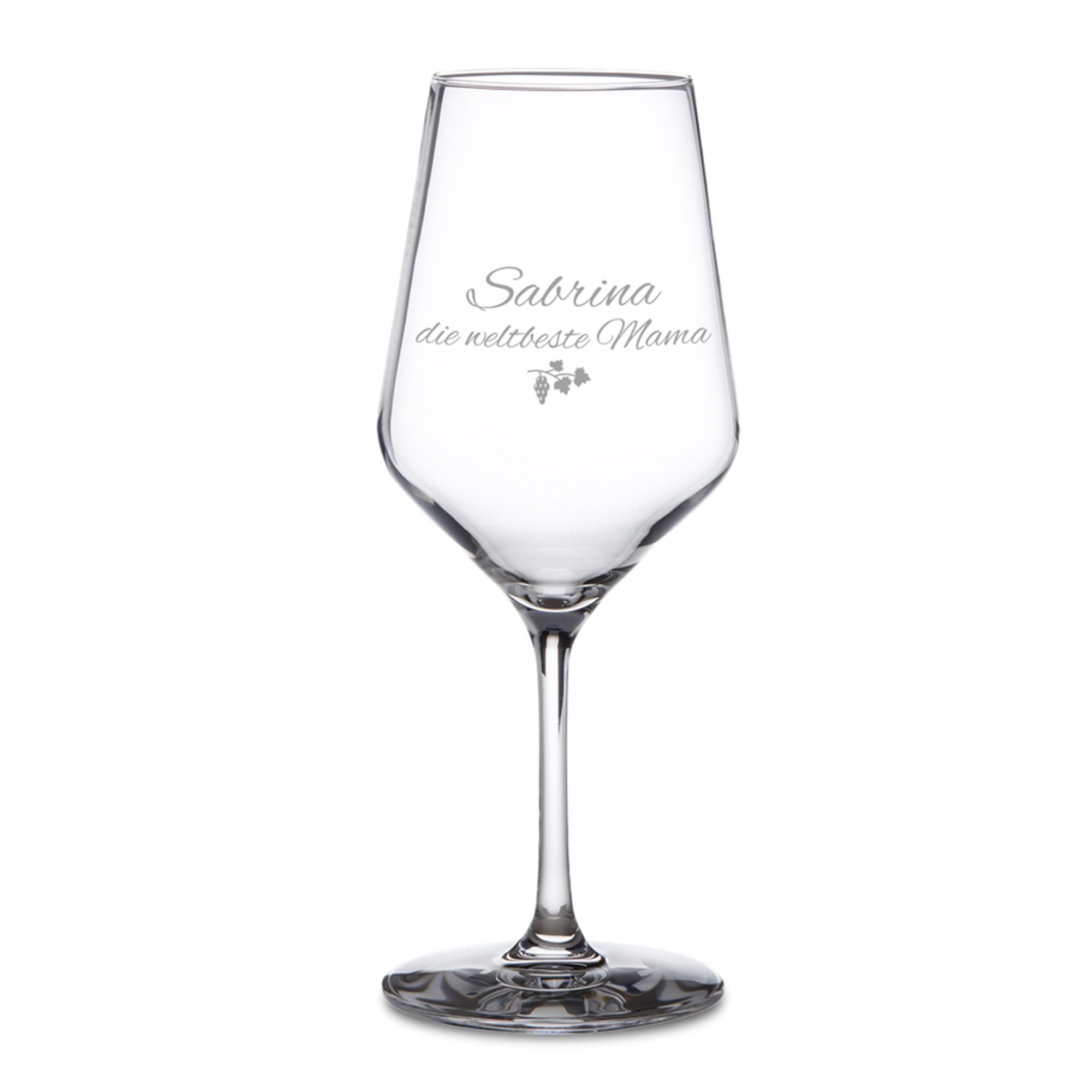 Weißweinglas mit Gravur - Beste Mama - 2