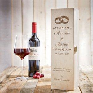 Personalisierte Weinkiste - Hochzeit - 3