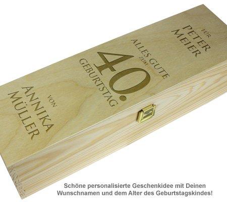 Personalisierte Weinkiste - Geburtstag - 2