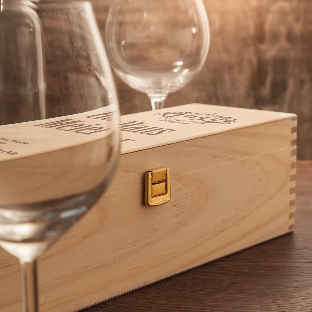 Personalisierte Weinkiste - Jahrgang - 2