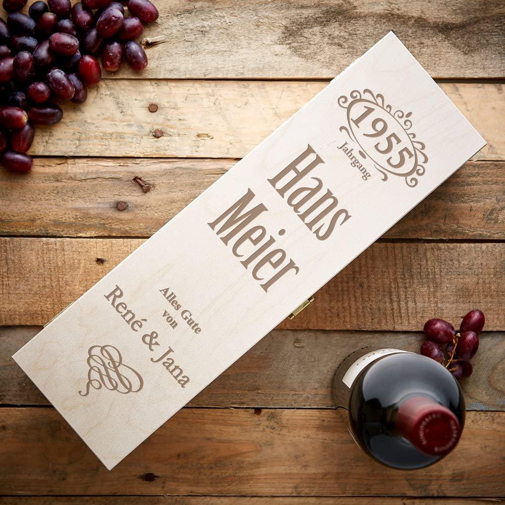 Personalisierte Weinkiste - Jahrgang - 3