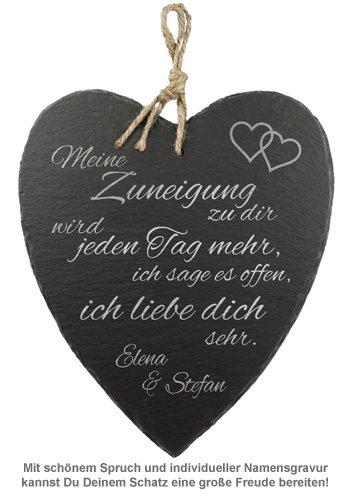Schieferherz Liebe - personalisiert - 2