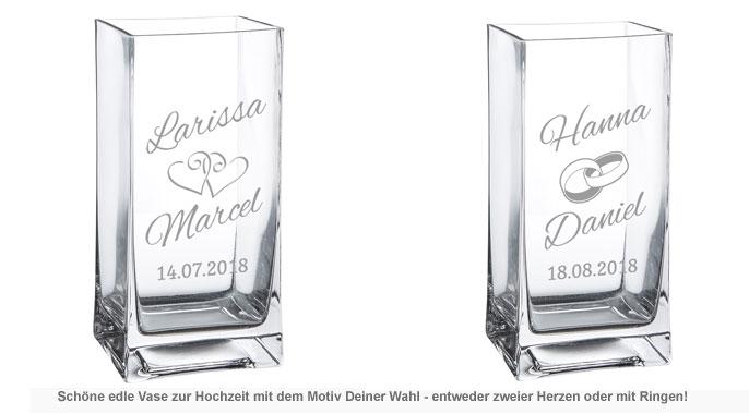 Vase zur Hochzeit - personalisiert - 2