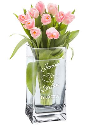 Vase zur Hochzeit - personalisiert - 3