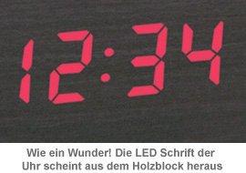 Holzuhr dunkel - 2