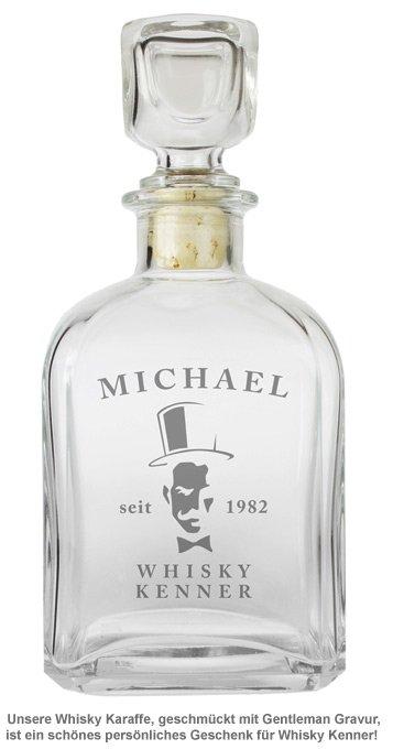 Whisky Karaffe - mit Gentleman Gravur - 2
