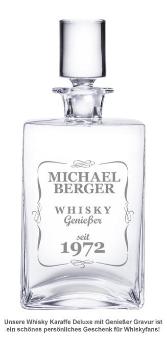 Whisky Karaffe Deluxe mit Gravur - Klassisch - 2