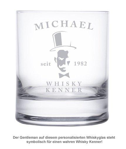 Whiskyglas - mit Gentleman Gravur - 2