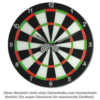 Wanduhr - Dart Scheibe - 2