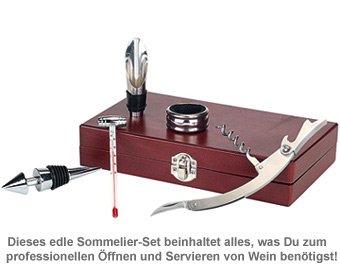 Wein Sommelier-Set - mit Gravur - 4