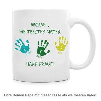 Tasse für Vater - Hand drauf - 2