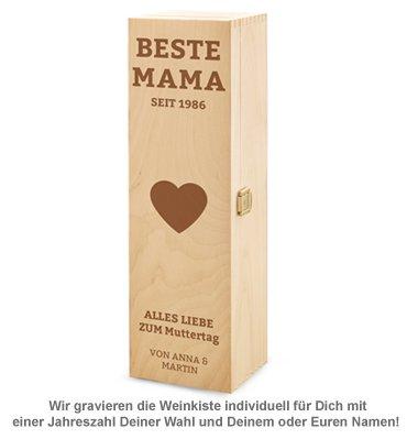 Personalisierte Weinkiste - Beste Mama - 2