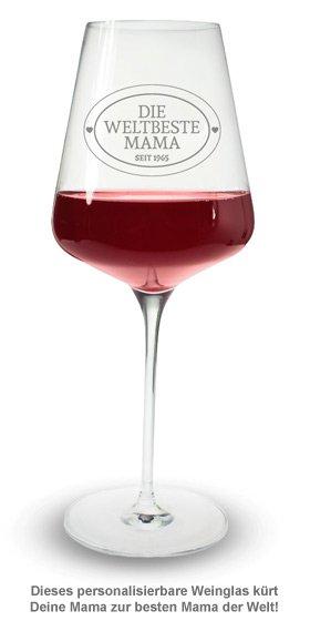 Weinglas mit Gravur - Die Weltbeste Mama - 2