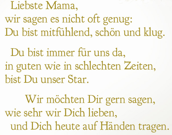 Gedichte an mama