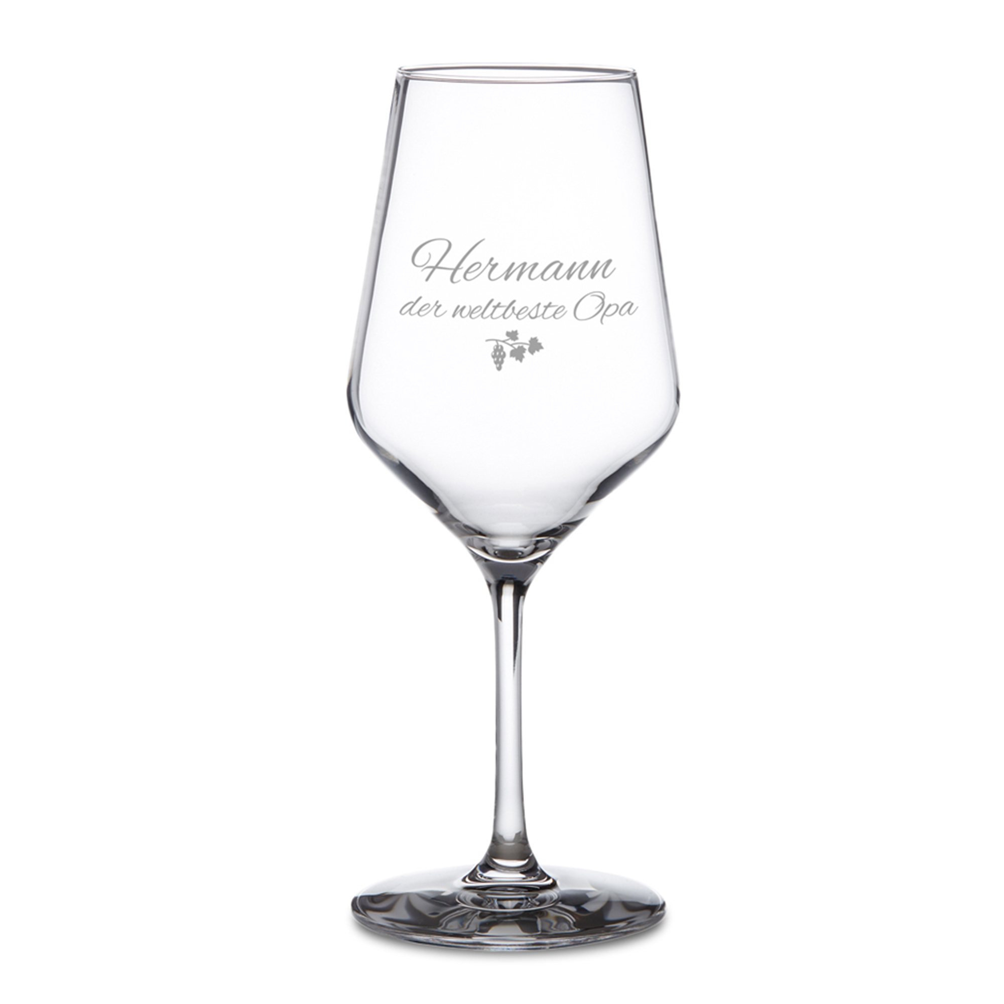 Weißweinglas mit Gravur - Bester Opa - 2