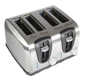 Toaster vierfach - graviert - 3