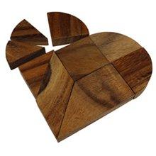 Holz Herz-Puzzle - Herz zur Hochzeit - 4