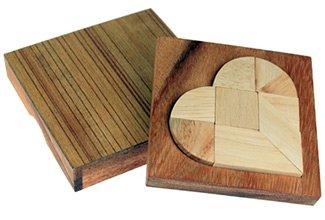 Mini Holz Puzzle - Herz zur Hochzeit - 4