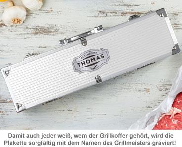 Deluxe Grillbesteck im Koffer - Grillmeister Gravur - 2