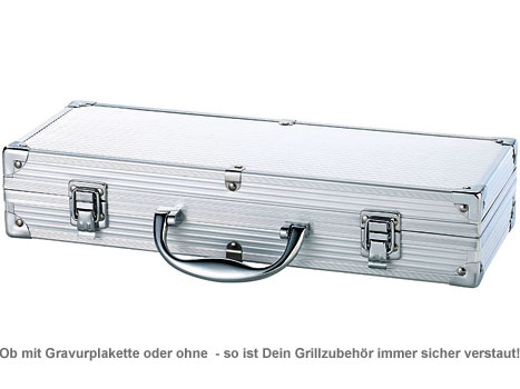 Deluxe Grillbesteck im Koffer - Grillmeister Gravur - 3