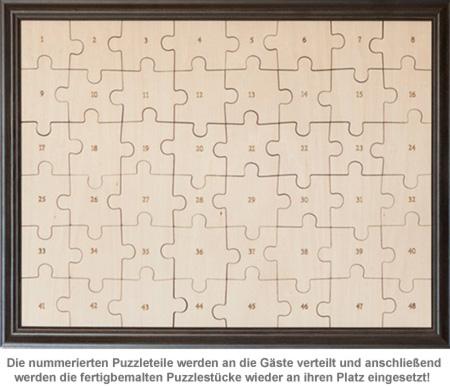 Hochzeit Puzzle zum Bemalen - 4