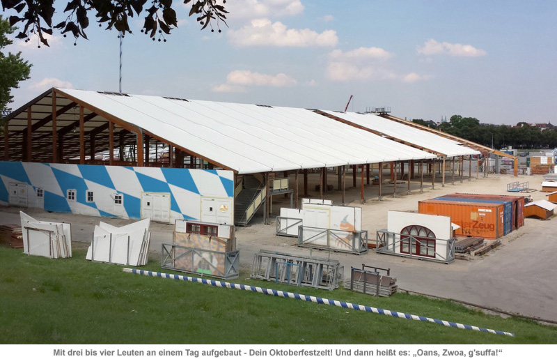 Oktoberfestzelt für dahoam - 3,6 Mio.-teiliger Bausatz - 4