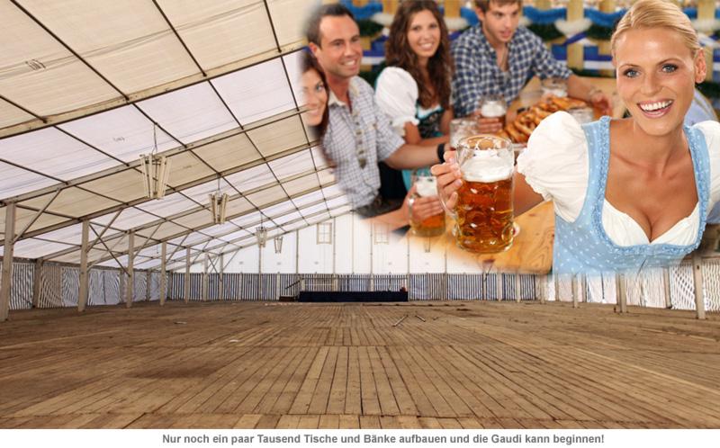 Oktoberfestzelt für dahoam - 3,6 Mio.-teiliger Bausatz - 9