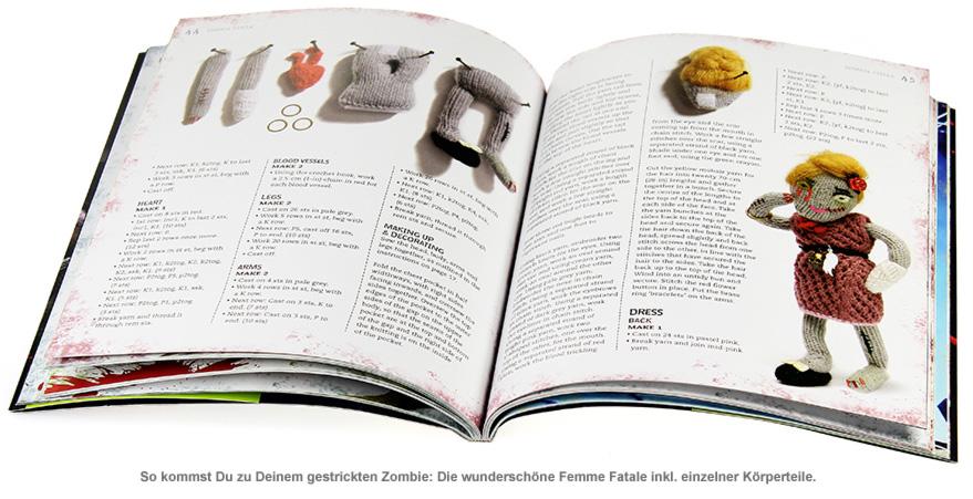 Zombie Strick Buch - 2